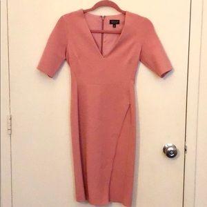 Topshop Pink Faux Wrap Dress US Size 2